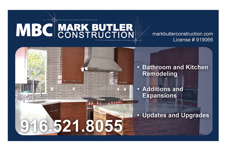 Advertisement design for Mark Butler Construction by Infusion Design Group of Roseville, CA.